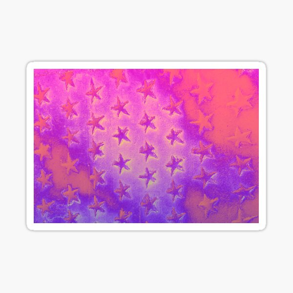 stars pink purple Sticker