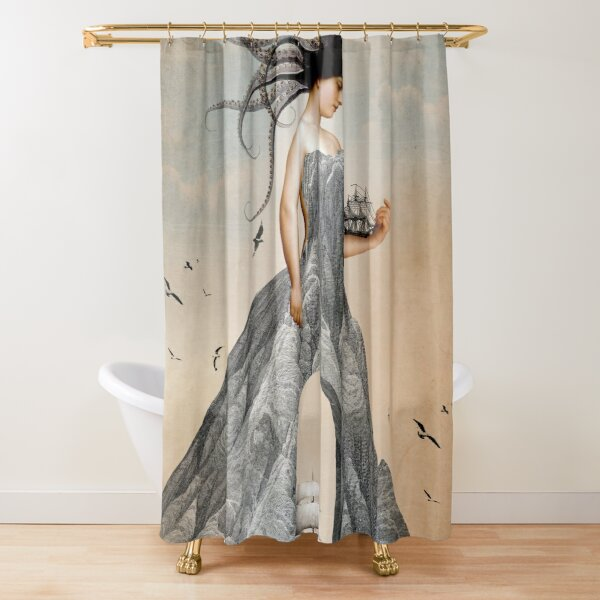 digital artwork Shower Curtain