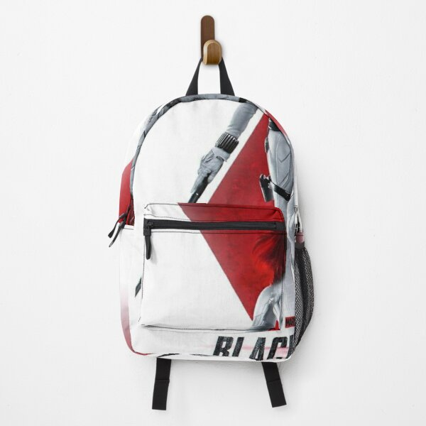black white red Backpack