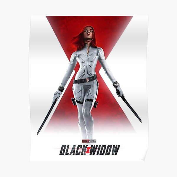 black white red Poster