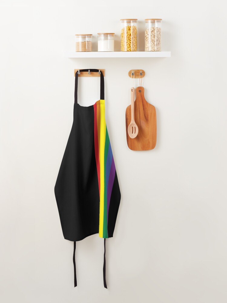 Alternate view of Rainbow Pride LGBT Strip  Apron