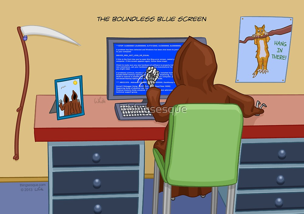 The Boundless Blue Screen by Thingsesque