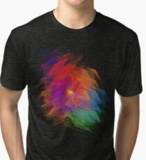 Apophysis Fractal Design - Enhanced Rainbow Flower Tri-blend T-Shirt