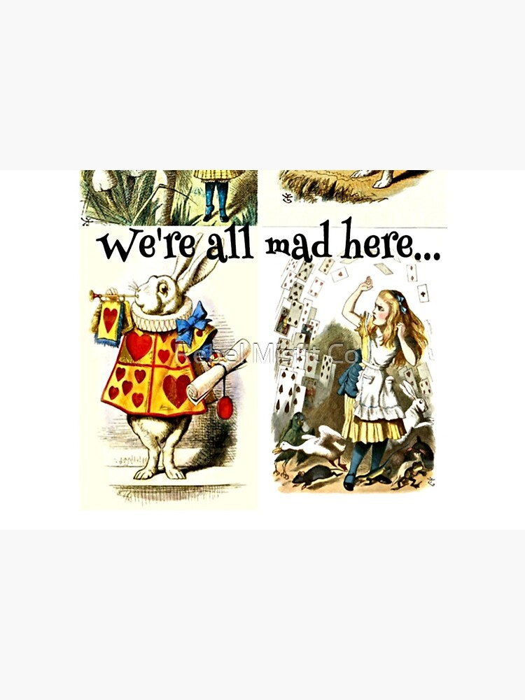 Alice In Wonderland Gift 'We're all mad here' Original Illustrations by NabuOnline