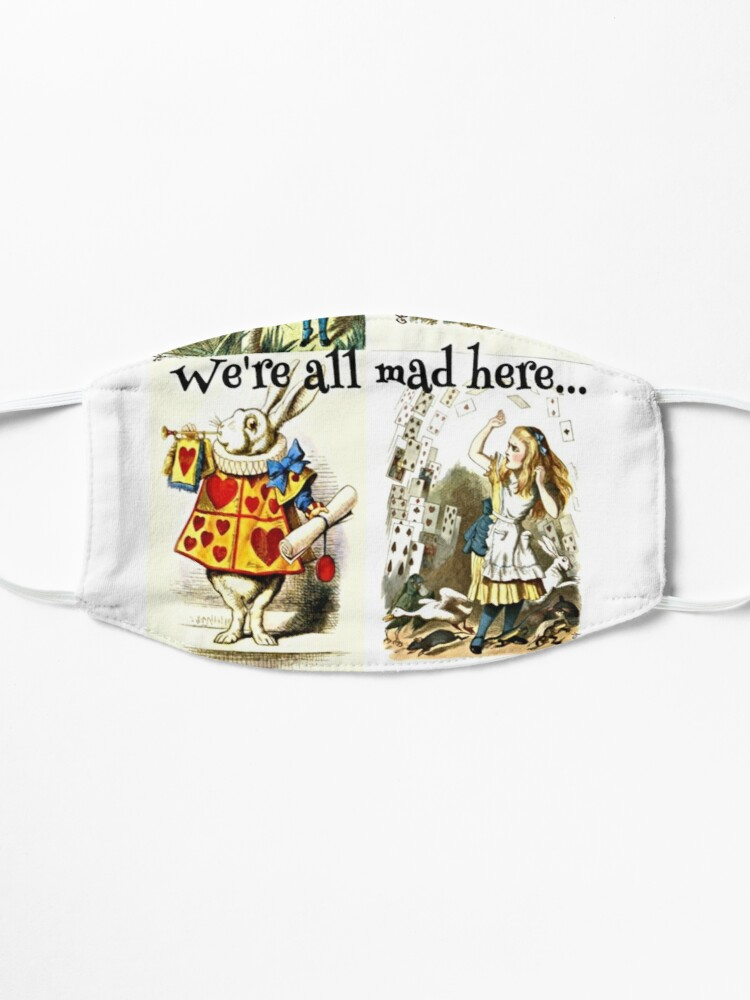 Alternate view of Alice In Wonderland Gift 'We're all mad here' Original Illustrations Mask
