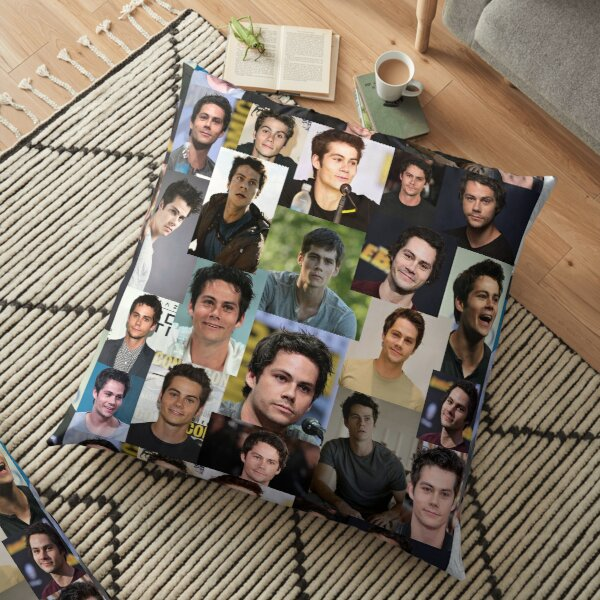 Dylan O'Brien collage Floor Pillow