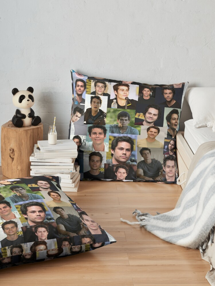 Alternate view of Dylan O'Brien collage Floor Pillow