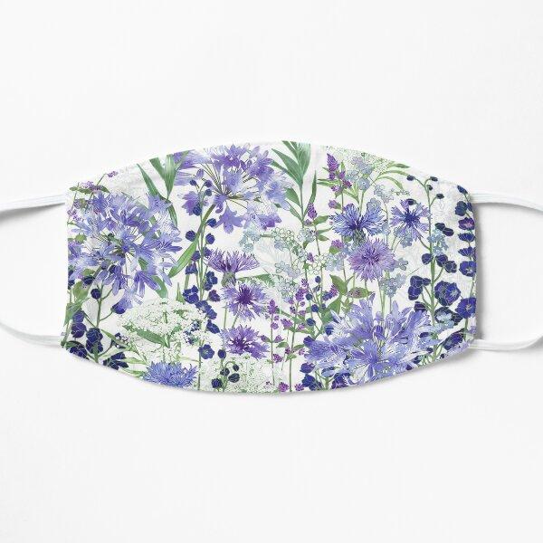 Blue Flower Garden - Agapanthus, Delphiniums, Cornflowers, Catmint, Forget-Me-Nots Flat Mask
