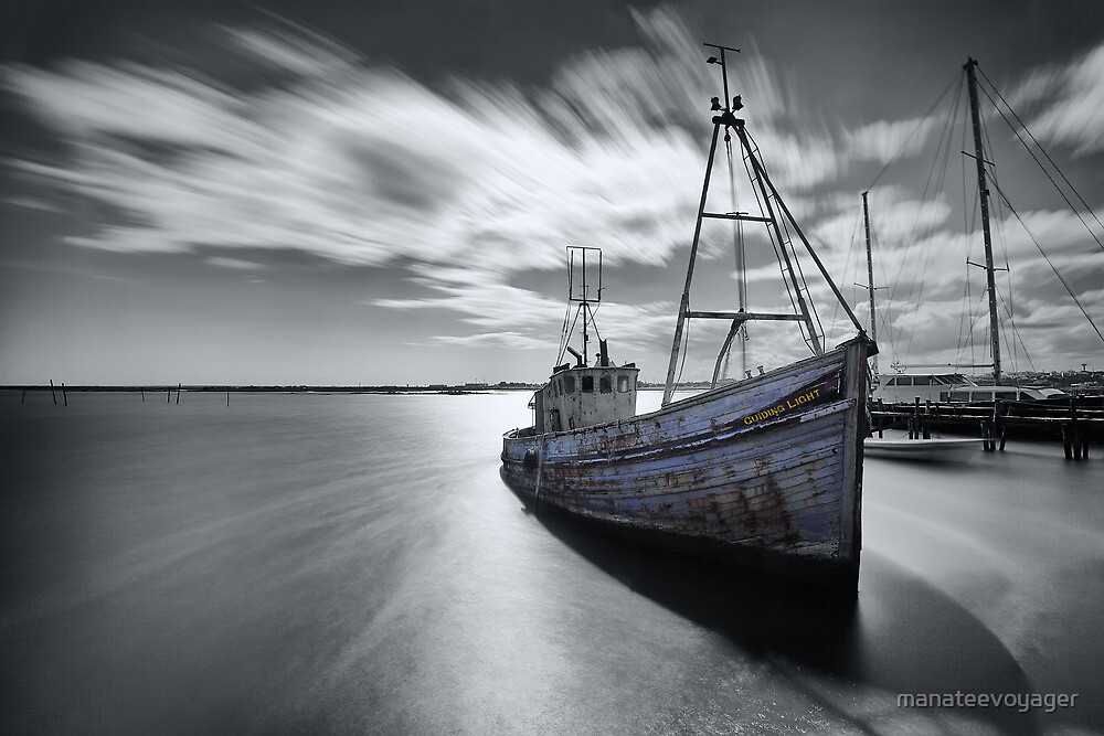 Portugal Fishing Boat by manateevoyager