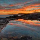 Boat Harbour Sunset. by Warren  Patten