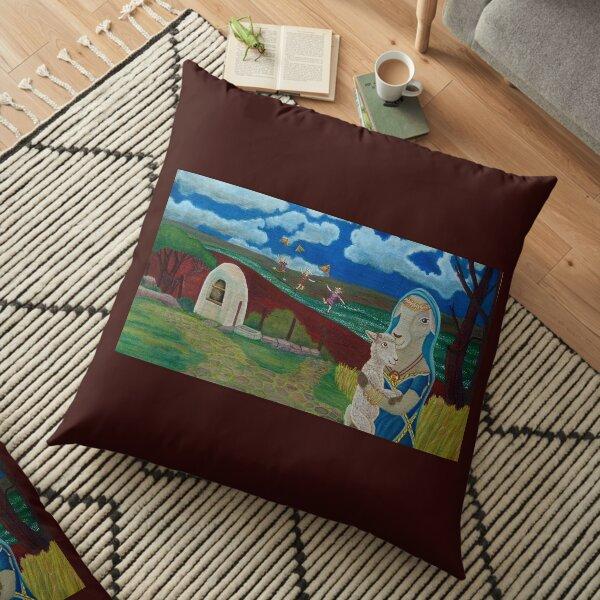 Mother Sheep : Motherhood. Gift of Unconditional Love. Floor Pillow