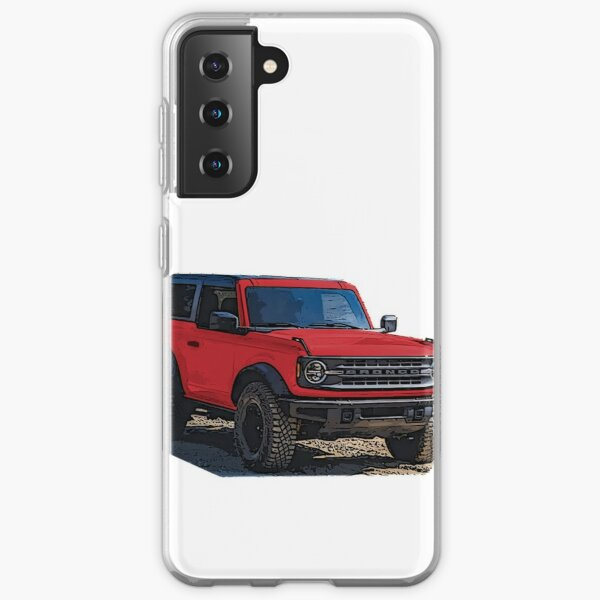 2021 Race Red Ford Bronco 2 Door Samsung Galaxy Soft Case