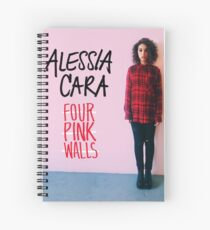 Alessia Cara Four Pink Walls Spiral Notebook