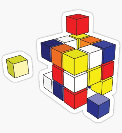 rubix cube  Sticker