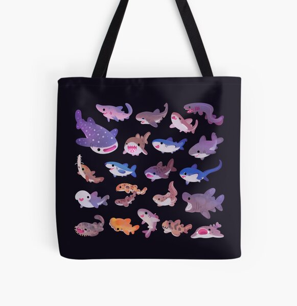 Shark day All Over Print Tote Bag
