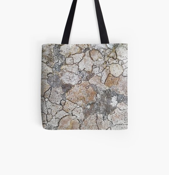 lichen patchwork All Over Print Tote Bag