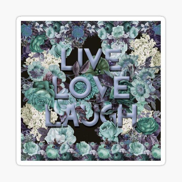 Live, Love, Laugh (Vintage blue) Sticker