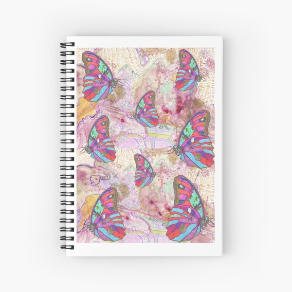 Abstract & Colorful Butterflies  Spiral Notebook