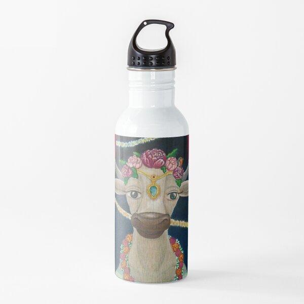 Cow Bride with Aquamarine Gemstone Indian Headpiece Water Bottle
