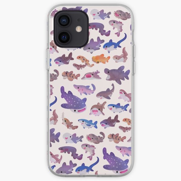 Shark day - pastel iPhone Soft Case