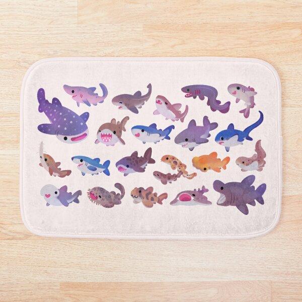 Shark day - pastel Bath Mat