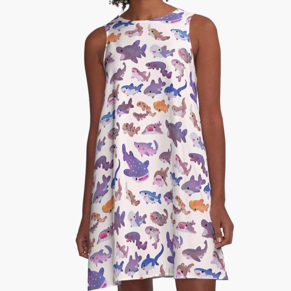 Shark day - pastel A-Line Dress