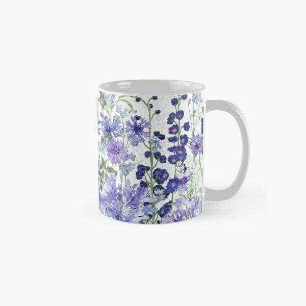 Blue Flower Garden - Agapanthus, Delphiniums, Cornflowers, Catmint, Forget-Me-Nots Classic Mug