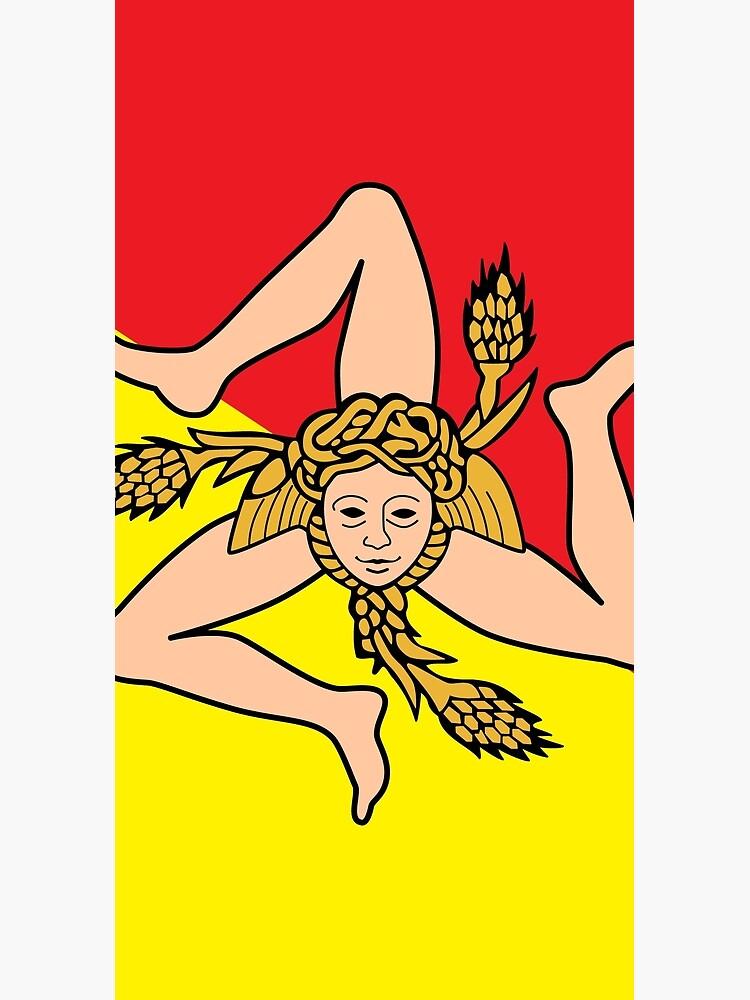 Flag of Sicily - Sicilian Flag by ArgosDesigns