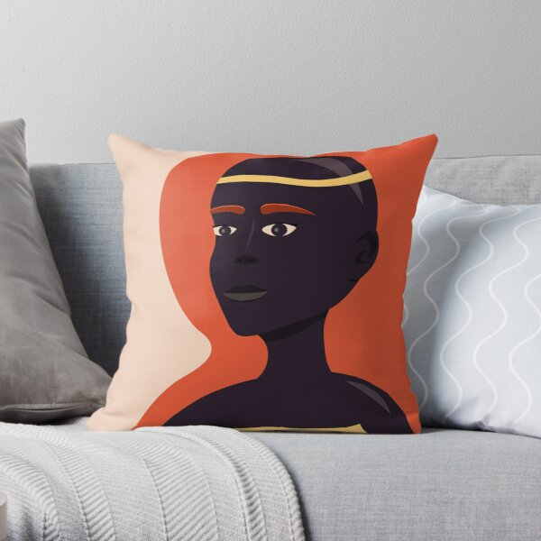 Portrait of an Unnamed Woman Throw Pillow