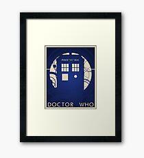 Doctor Who Poster Framed Print