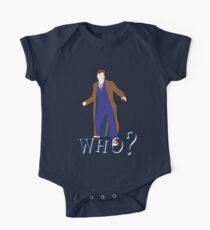 """WHO?"" Tenth Doctor T-Shirt One Piece - Short Sleeve"