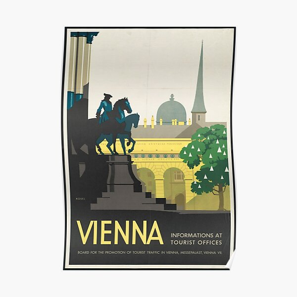 Vintage Travel Poster - Vienna Poster