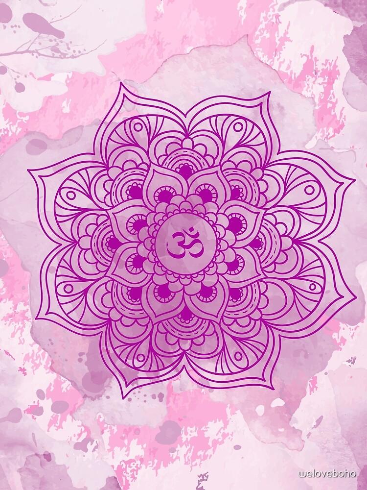 Purple Mandala watercolor de weloveboho