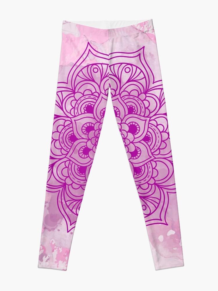Vista alternativa de Leggings Purple Mandala watercolor