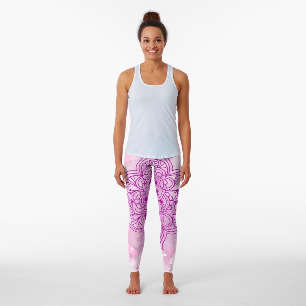 Purple Mandala watercolor Leggings