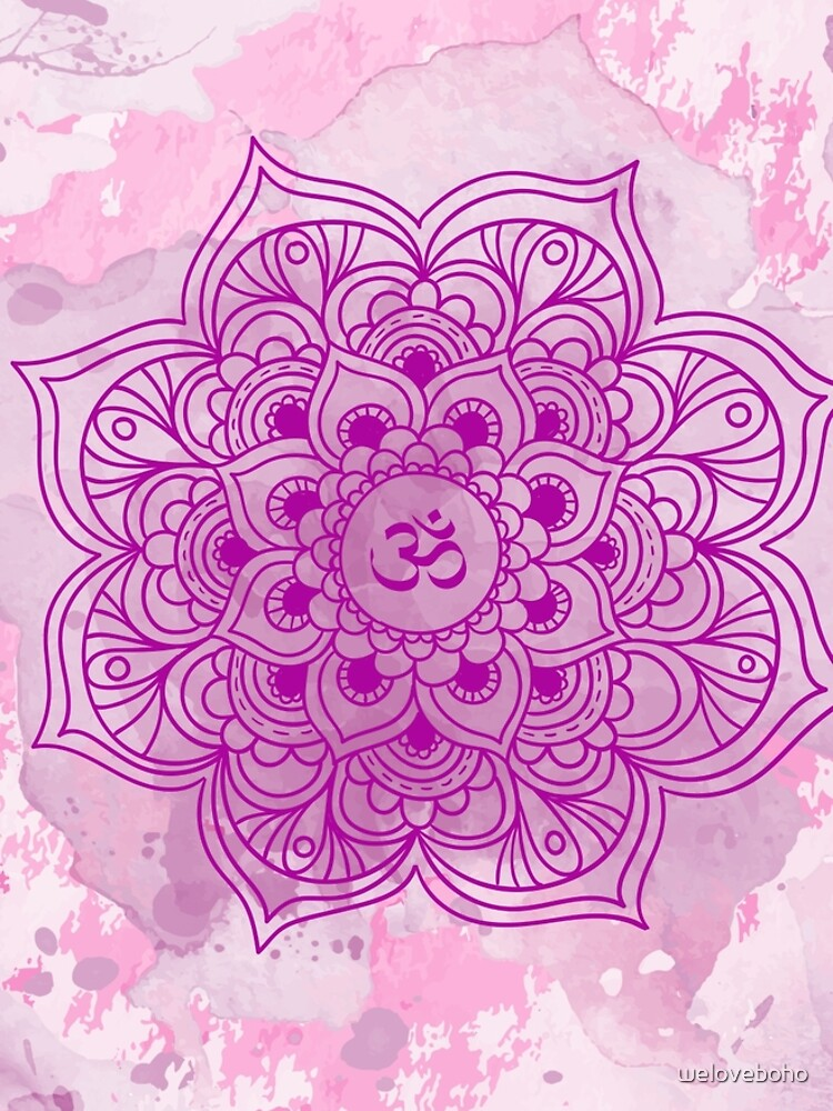 Purple Mandala watercolor de weloveboho