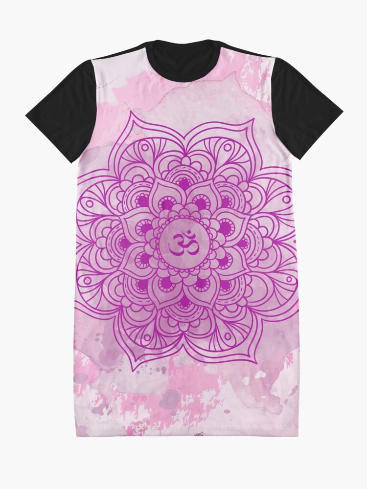 Vista alternativa de Vestido camiseta Purple Mandala watercolor