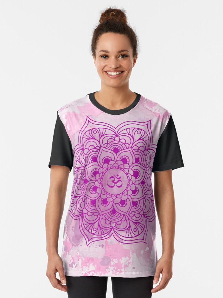 Vista alternativa de Camiseta gráfica Purple Mandala watercolor
