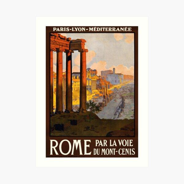 Vintage Travel Poster: Rome Art Print