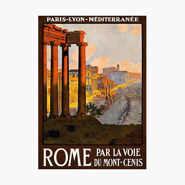 Vintage Travel Poster: Rome Photographic Print