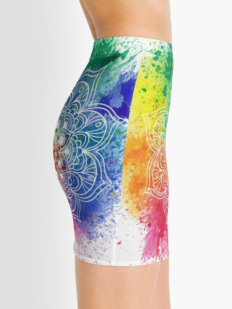 Vista alternativa de Minifalda Multicolored Mandala watercolor