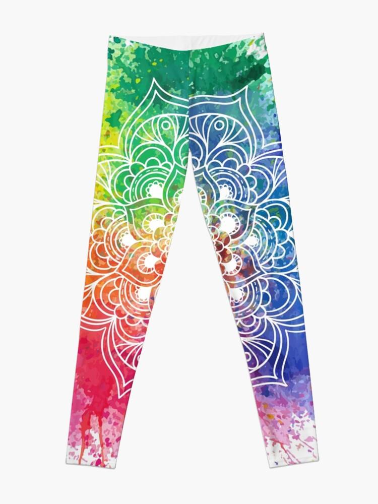 Vista alternativa de Leggings Multicolored Mandala watercolor