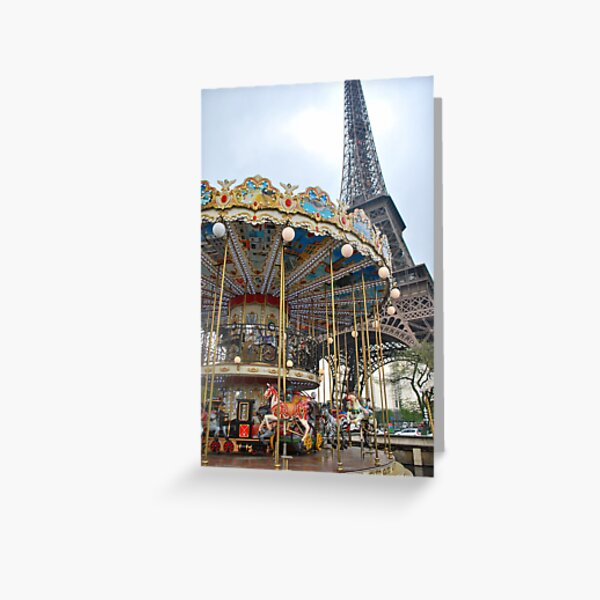 A Beautiful Day in Paris Greeting Card