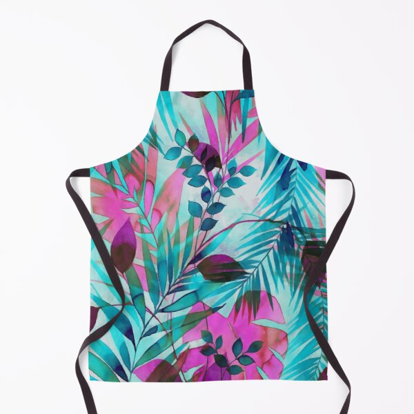 Colorful tropical leaves Apron