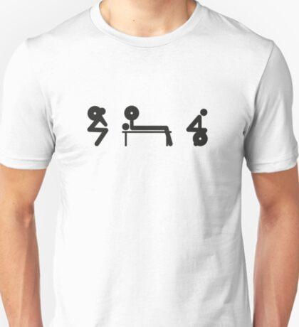 Squat Bench Deadlift (inverted) T-Shirt