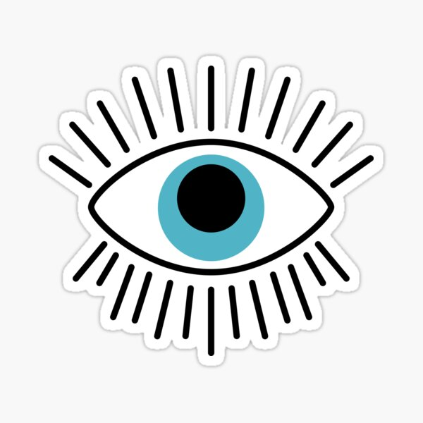 Mal de ojo griego Pegatina