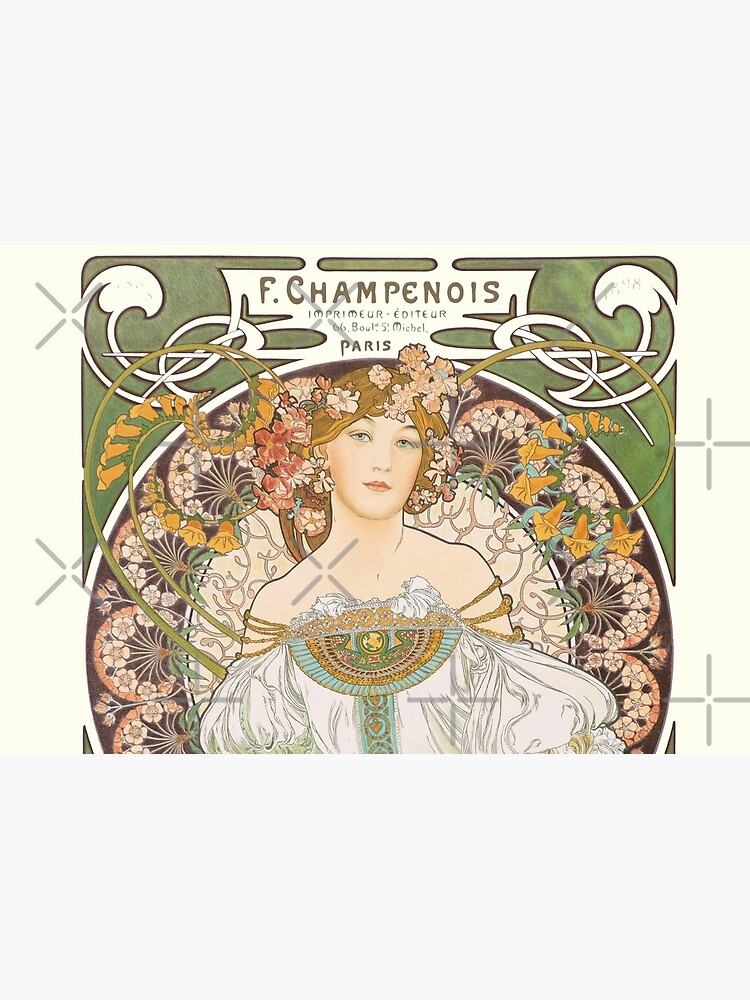 HD. F. Champenois, by Alphonse Mucha HIGH DEFINITION (Original colors) by mindthecherry