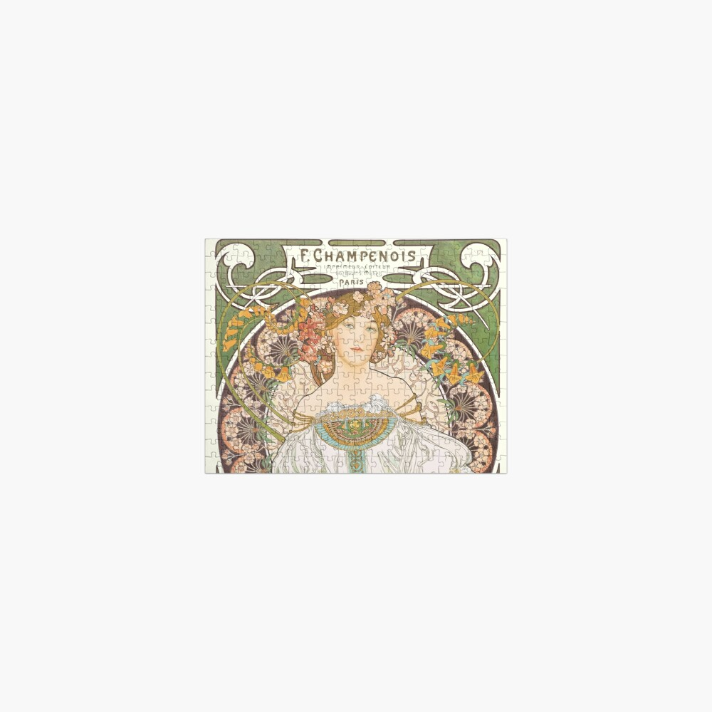 HD. F. Champenois, by Alphonse Mucha HIGH DEFINITION (Original colors) Jigsaw Puzzle
