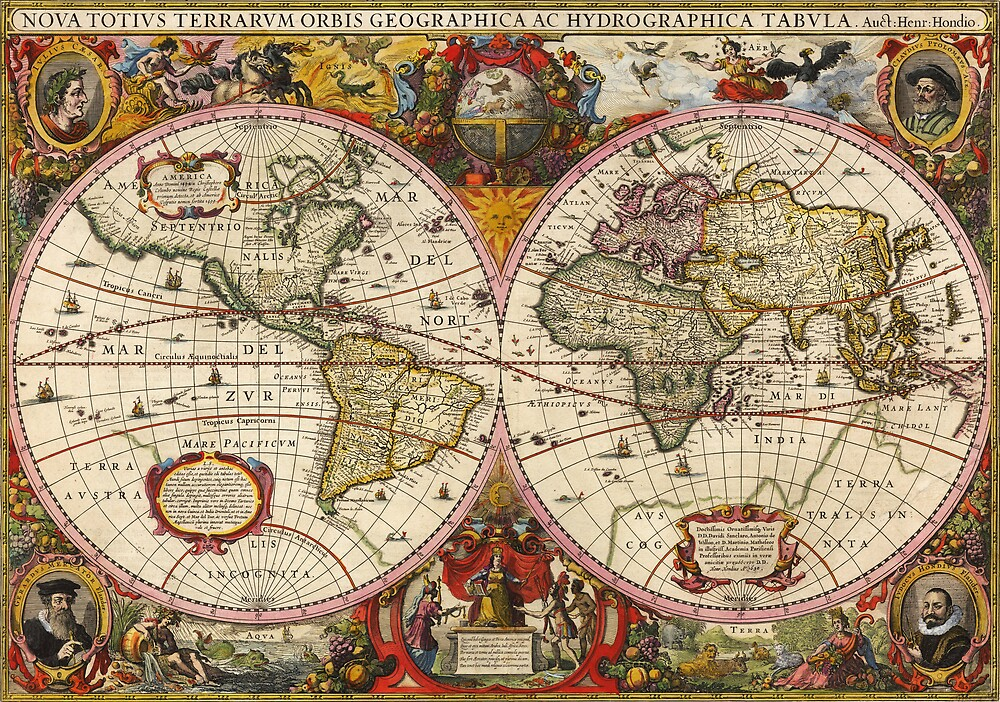 World Map 1630 by VintageLevel