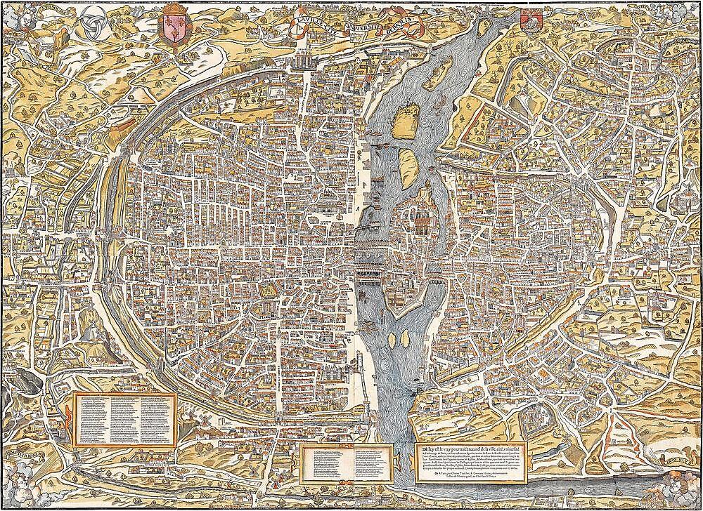 Paris Map 1150 by VintageLevel